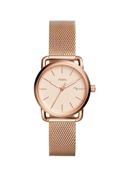 Fossil Кварцов часовник с мрежеста верижка Жени