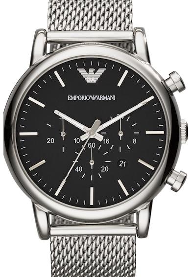 Emporio Armani Oвален часовник с мрежеста верижка Мъже