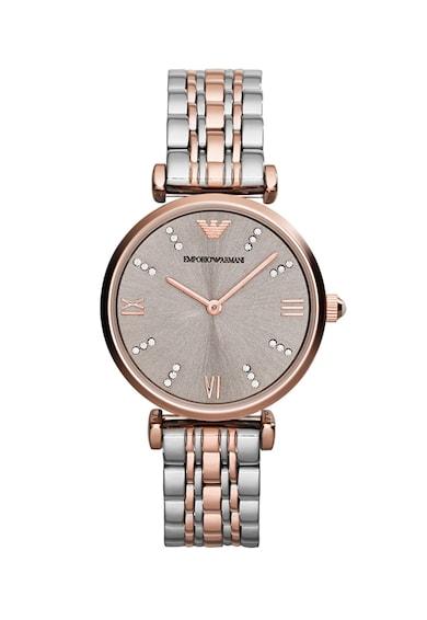 Emporio Armani Овален часовник с метална верижка Жени