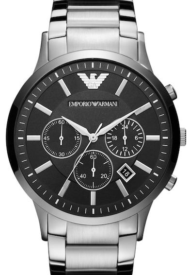 Emporio Armani Часовник от неръждаема стомана с хронограф Мъже