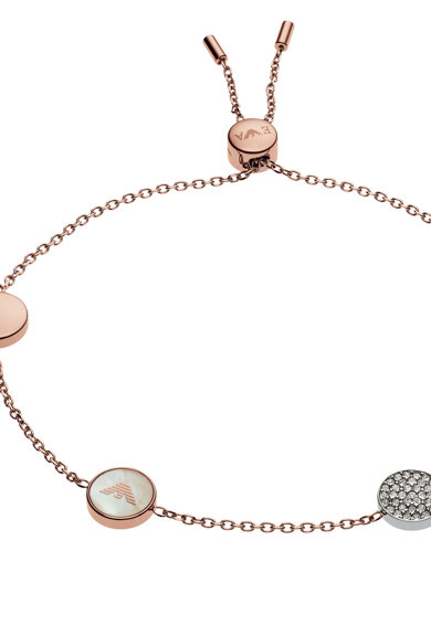 Emporio Armani Bratara decorata cu perle si cristale Femei