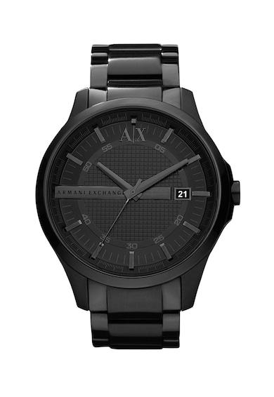 ARMANI EXCHANGE Кръгъл аналогов часовник с релефен циферблат Мъже