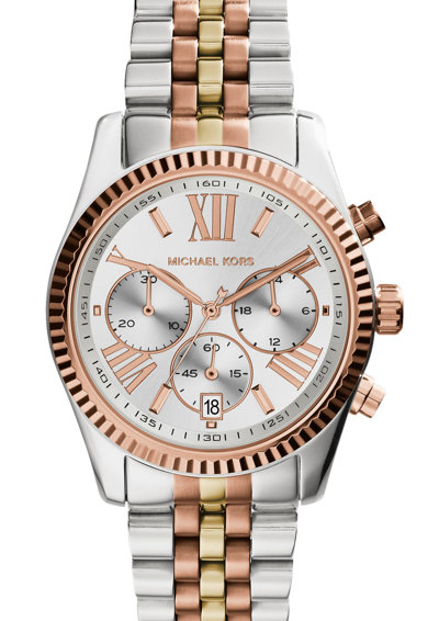 Michael Kors Часовник с хронометър и релефен жлеб Жени
