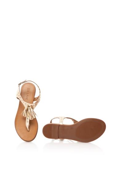 Zee Lane Кожени сандали с разделителна каишка и пискюли Жени