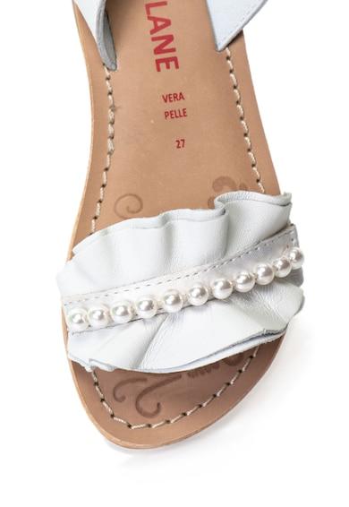 Zee Lane Sandale de piele cu bareta pe glezna si detalii cu volane Joy Fete