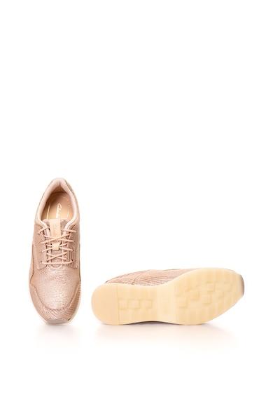 Clarks Floura fémes hatású bőr sneakers cipő női