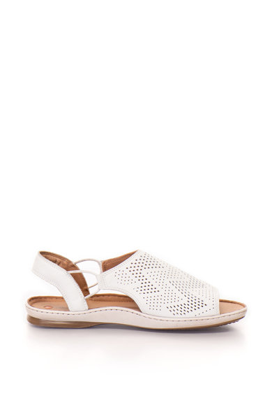 Кожени сандали Sarla с отворена пета - Clarks (SARLA-CADENCE-WHITE ... 654061c5504