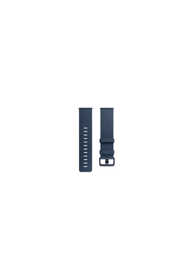 Fitbit Curea ceas smartwatch  Versa, Accessory Leather Band, Large, Midnight Blue Femei