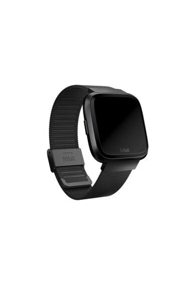 Fitbit Curea ceas smartwatch  Versa, Accessory Metal Mesh Band, Stainless Steel, Black Femei