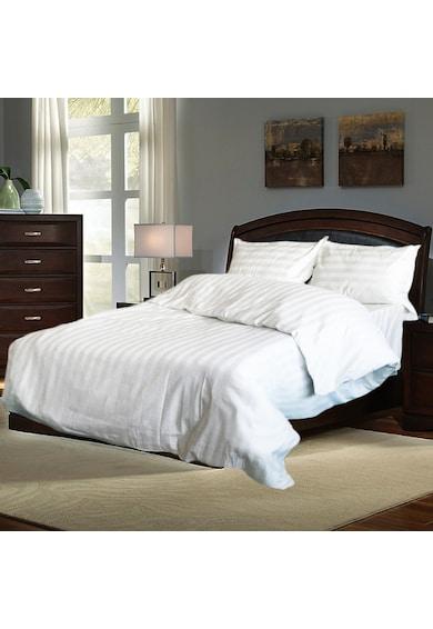 Kotonia Home Lenjerie de pat pentru 2 persoane  damasc, 100% bumbac, alb Femei