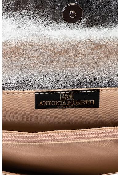 Antonia Moretti Кожен клъч с презрамка с верижка, Сребрист Жени
