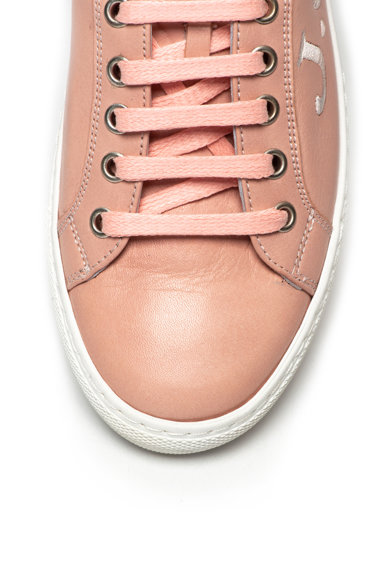 John Galliano Bőr sneakers cipő hímzett logóval női