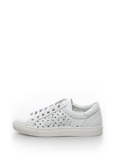 John Galliano Bőr sneakers cipő perforált hatással női