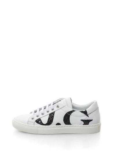 John Galliano Pantofi sport de piele, cu logo stralucitor Femei