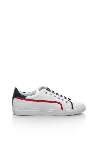 John Galliano Pantofi sport de piele cu garnituri contrastante Barbati