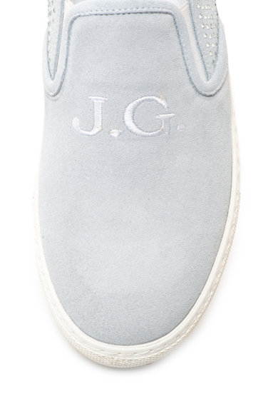 John Galliano Велурени обувки без закопчаване с декоративни камъни Жени