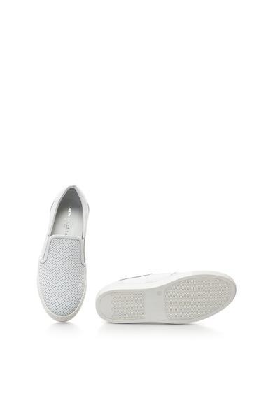 John Galliano Perforált hatású bebújós bőrcipő női
