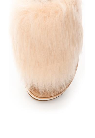 UGG Сандали Holly с кожа с косъм и отворена пета Жени