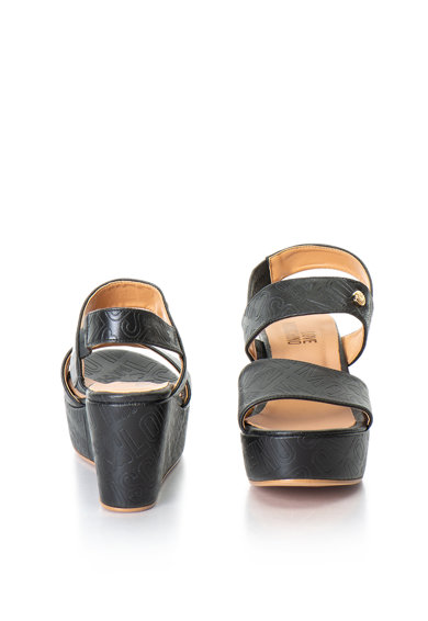 Love Moschino Sandale slingback wedge, de piele sintetica Femei