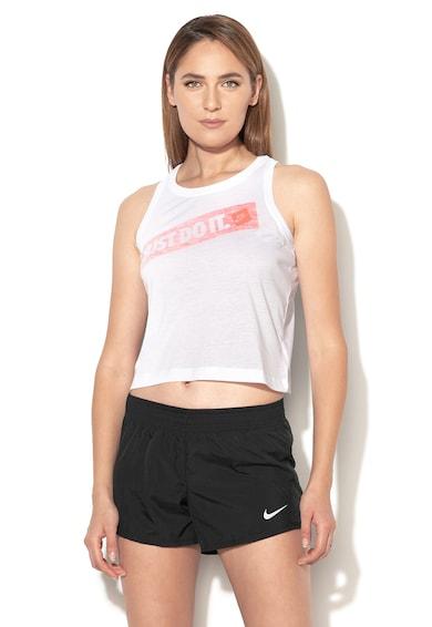 Nike Топ с текстова щампа Жени