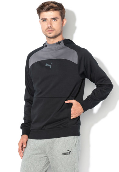 Puma dryCell kapucnis pulóver gumis logóval férfi