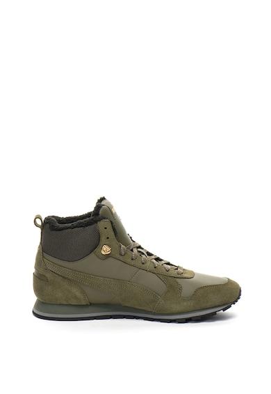 Puma Pantofi sport inalti cu interior din material teddy ST Runner Barbati