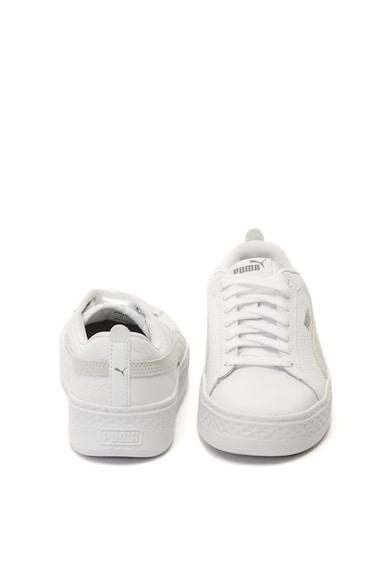 Puma Pantofi sport flatform de piele si piele intoarsa Smash Femei