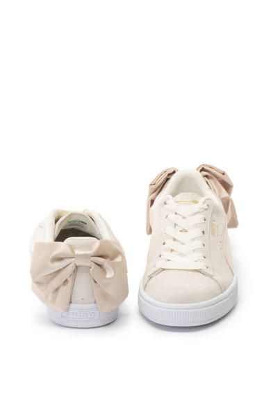 Puma Pantofi sport de piele intoarsa cu funda de satin Bow Varsity Femei