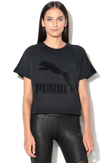 Puma Tricou cu logo pe piept Downtown Femei