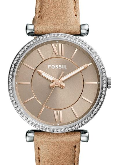 Fossil Ceas cu o curea de piele Carlie Femei