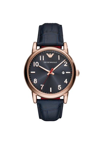 Emporio Armani Часовник Luigi с кожена каишка Мъже