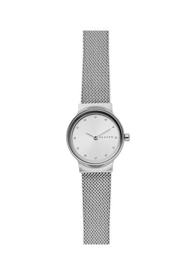 Skagen Часовник Freja с метална верижка и кристали Жени