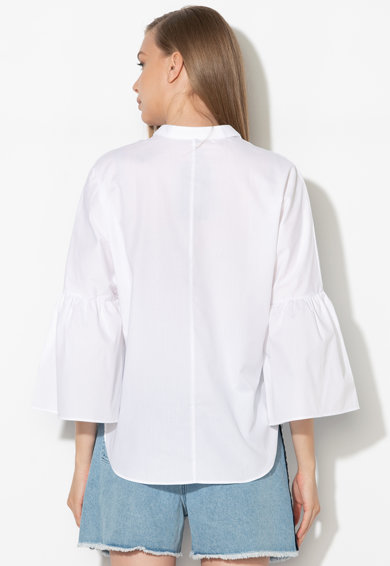 Zee Lane Denim Bluza tip tunica cu mansete evazate Femei