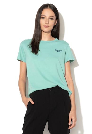Pepe Jeans London Teresa kerek nyakú póló hímzett logóval női