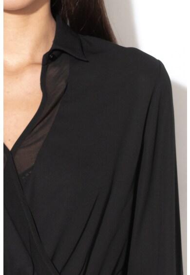 Pepe Jeans London Bluza transparenta cu decolteu cache coeur Pebble Femei