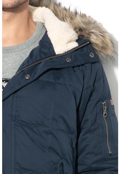 Pepe Jeans London Drury télikabát irha hatású bélelt kapucnival férfi
