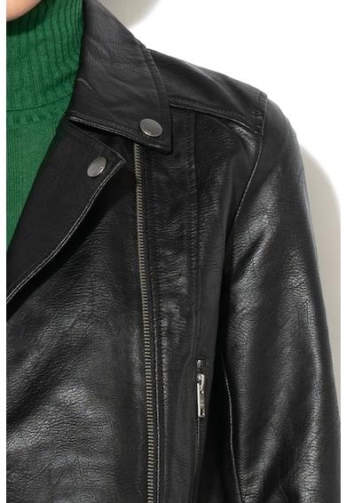 Pepe Jeans London Jacheta biker de piele ecologica Jessie Femei