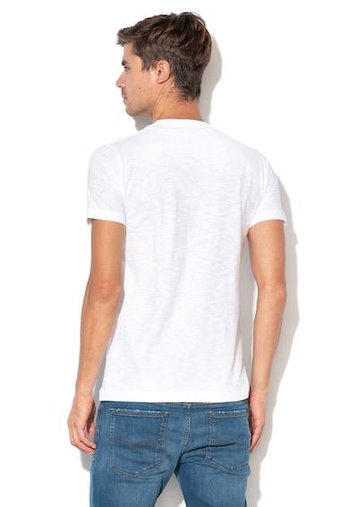 Pepe Jeans London Тениска Golders с лого, по тялото, Бял Мъже