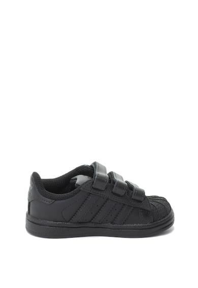 Adidas ORIGINALS Pantofi sport de piele cu benzi velcro Superstar Baieti
