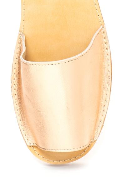 Zee Lane Sandale slingback de piele cu aspect metalizat Minorca Femei