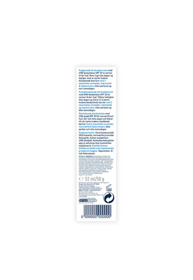 CeraVe Crema hidratanta de fata  SPF 25 ten normal-uscat, 52 ml Femei