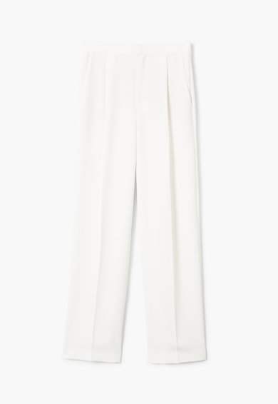 Mango Панталон Crepi с висока талия и широк крачол Жени