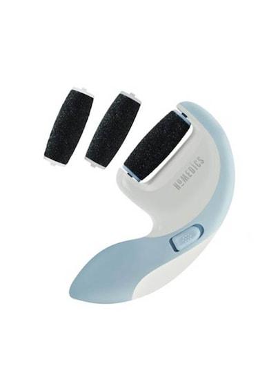 HoMedics Pila electrica pentru calcaie Soft as Silk , HoMedics, 3 accesorii, 2 viteze, Alb/Albastru Femei