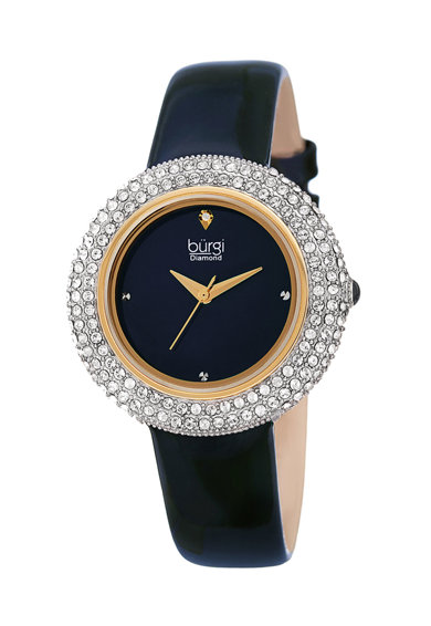 BURGI Часовник с диаманти и кристали Swarovski Жени