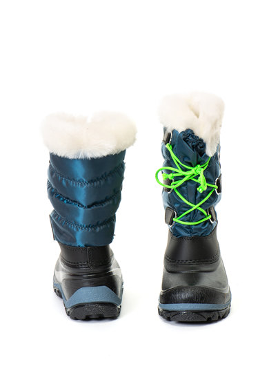 Olang Cizme de iarna cu garnituri de blana sintetica si captuseala din material teddy Magic Baieti