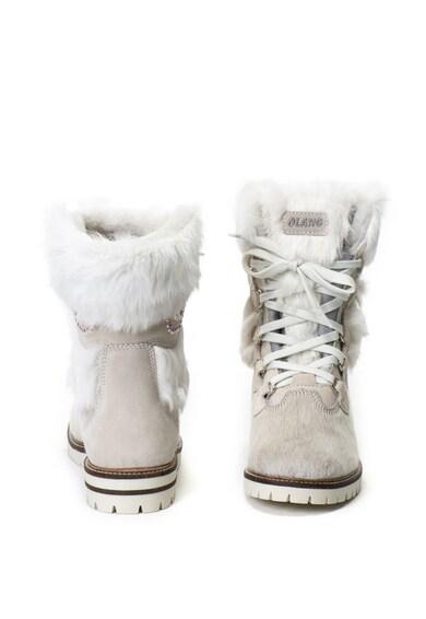 Olang Cizme de iarna de piele cu par scurt, cu garnituri de blana Morgana Femei