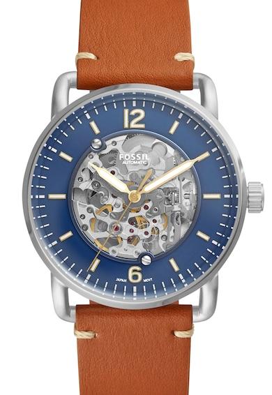 Fossil Автоматичен часовник The Commuter от неръждаема стомана Мъже