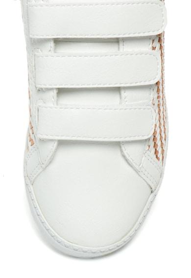 Le Coq Sportif Спортни обувки от еко кожа с плетен дизайн Момичета