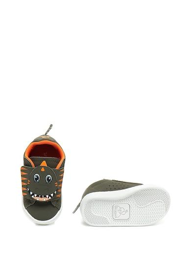 Le Coq Sportif Courtset Dino tépőzáras cipő dinoszauruszos mintával Lány