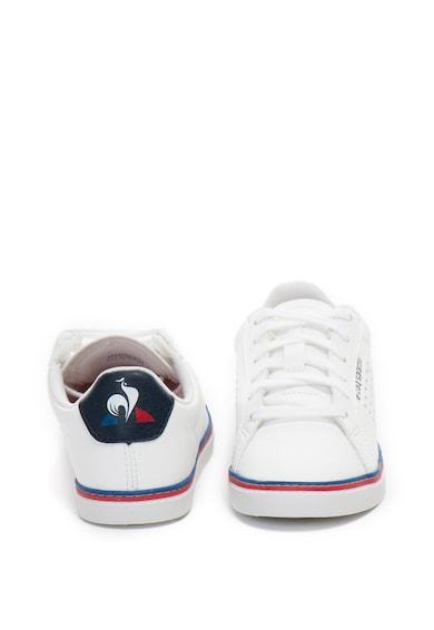 Le Coq Sportif Pantofi sport de piele ecologica, cu detalii perforate Courtace GS Baieti